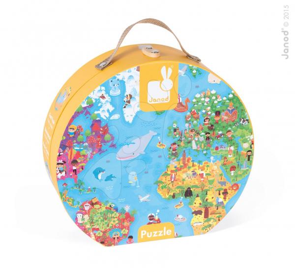 Óriás Puzzle bőröndben - Világtérkép