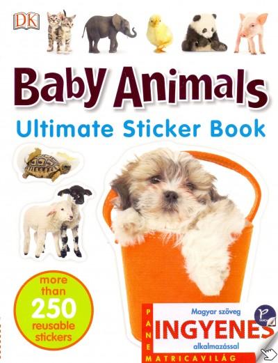 Baby Animals - angol nyelvű matricás foglalkoztató