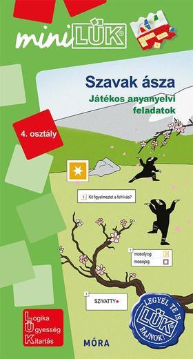 Szavak ásza -Játékos anyanyelvi feladatok 4. osztály - LDI553 - miniLÜK