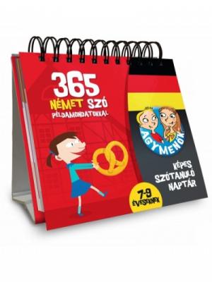 Agymenők - Képes szótanuló naptár - 365 német szó példamondatokkal 7-9 éveseknek