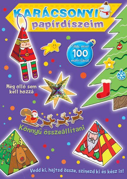 Karácsonyi papírdíszeim - lila