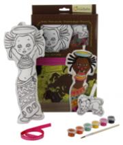 Baba és kis kedvence kifestő készlet - Afrika