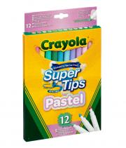 Crayola Super Tips filc - pasztell (12 db)