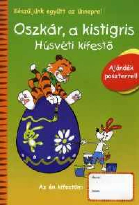 Oszkár, a kistigris - Húsvéti kifestő