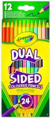 Crayola - Kétvégű színes ceruza, 12db