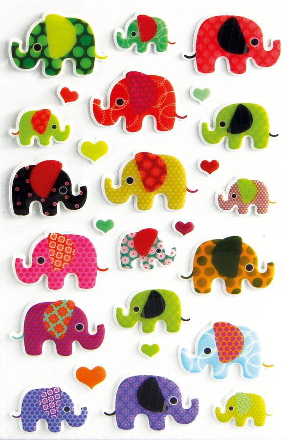 Cooky 3D matricák - Elefánt