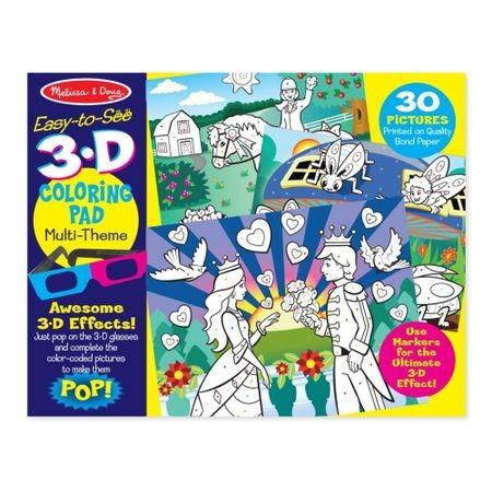 3D Színező könyv - Lányos