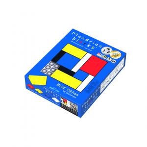 Mondrian Blocks 8x8 - Blue