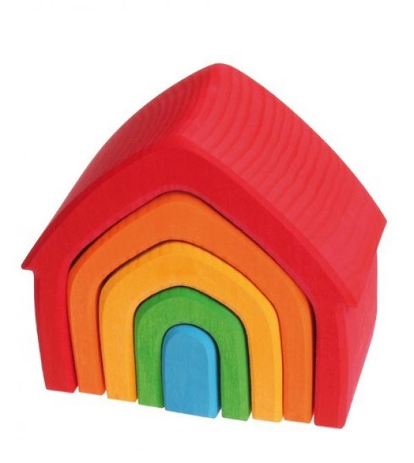 Grimms színes ház fa építő