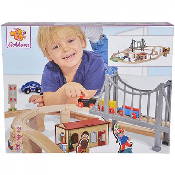 Eichhorn - Vasút játékszett híddal