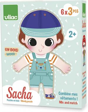Sacha felöltözik kirakó
