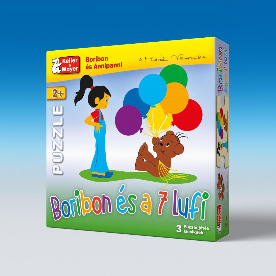 Boribon és a 7 lufi - puzzle