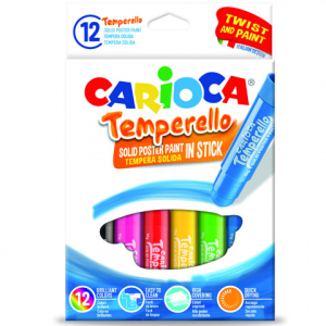 Carioca - Színes tempera stick, 6db
