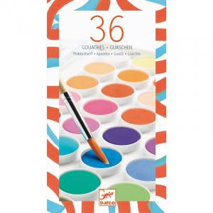 Korongos gouache festék - 36 szín