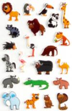 Cooky 3D matricák - A szavanna állatai