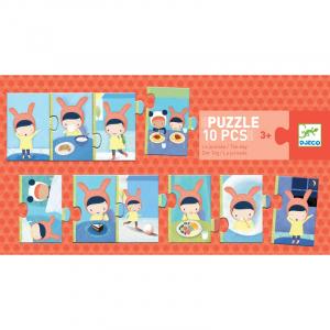 Párosító puzzle - Sorozat puzzle - Egy nap