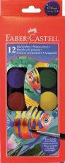 Faber Castell - Vízfesték, 12 szín, 30mm-es korong