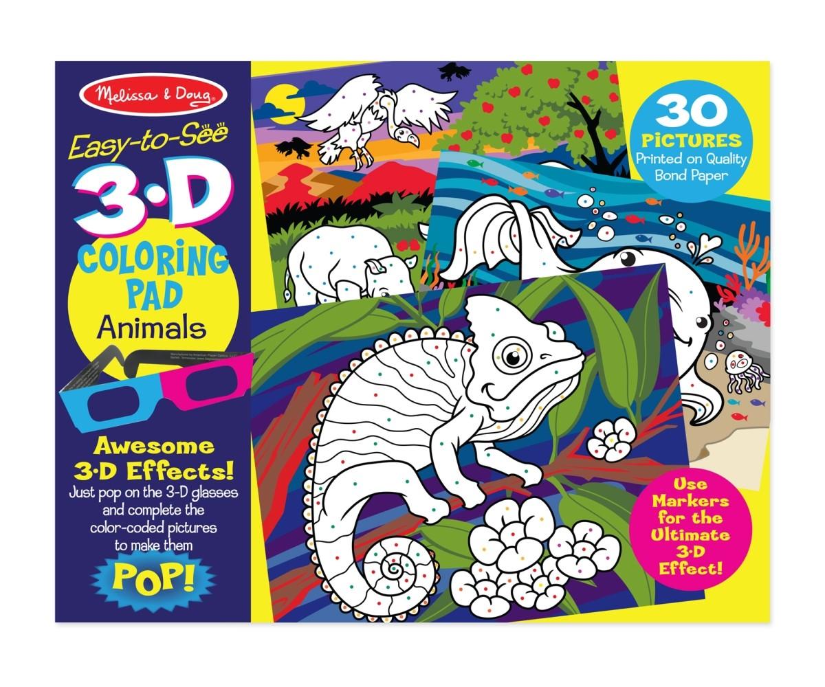 3D Színező könyv - Állatok