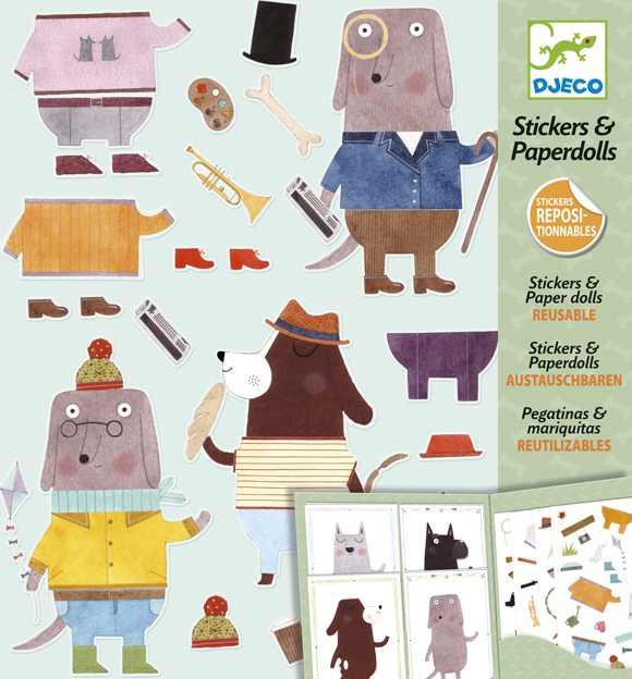 Matricák és papírbabák - Kutyák