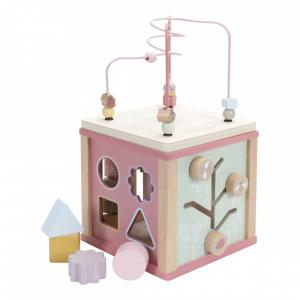 Fa készségfejlesztő kocka - Pink