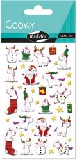 Cooky 3D matricák - Karácsonyi unikornisok