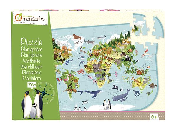 A világ állatai - puzzle