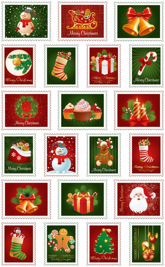 Cooky matricák - Karácsonyi bélyegek
