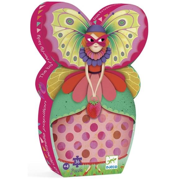 Formadobozos Puzzle - A pillangó kisasszony
