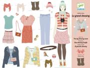 Papírbaba öltöztető - Hatalmas gardrób
