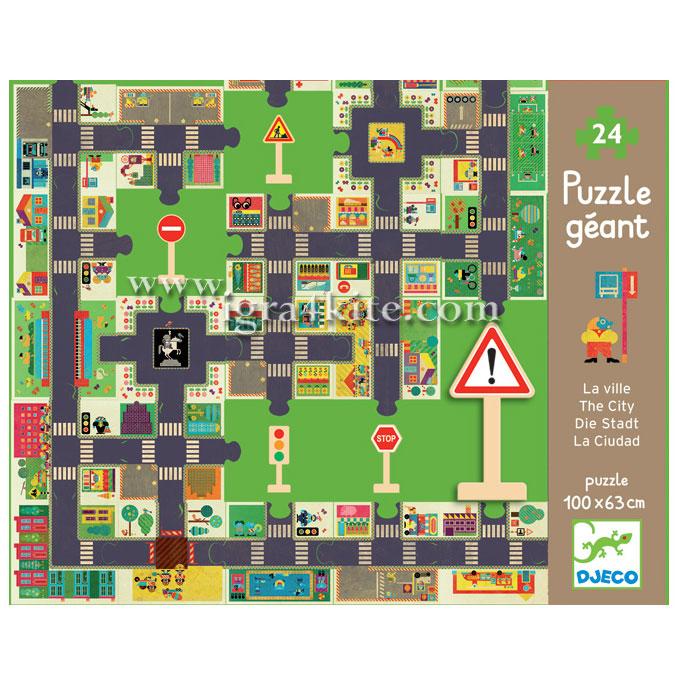 Óriás puzzle - Város