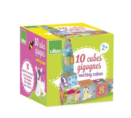 Toronyépítő kocka - Állatokkal és számokkal