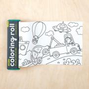 Színezőtekercs 4 db színes ceruzával - Utazás
