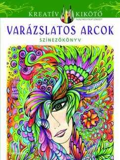 Varázslatos arcok - Színezőkönyv