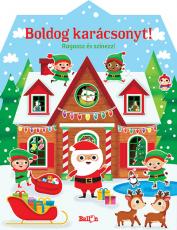 Boldog karácsonyt! - Ragassz és színezz!