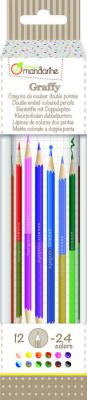 Duplavégű színes ceruza, 12db