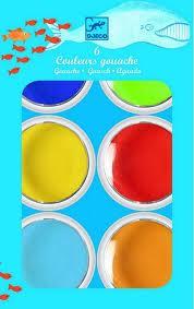 Óriás korongos gouache festék - 6 szín