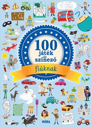 100 játék és színező fiúknak