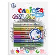 Carioca - Csillogó ragasztó toll, 6db
