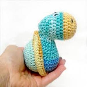 Nyugi-teknős - horgolt figura