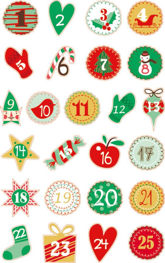 Cooky matricák - Adventi naptár