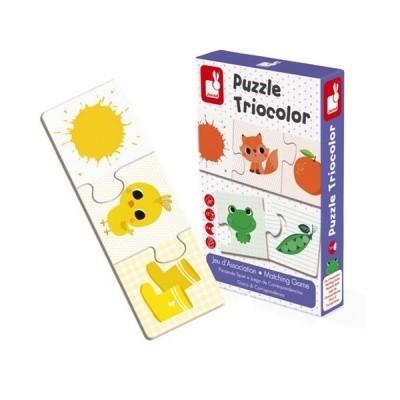 Puzzle Triocolor - Párosító játék 30 db-os