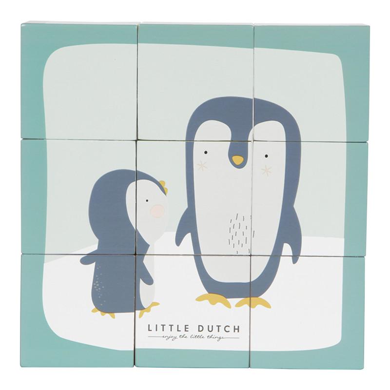 Fa kocka puzzle - Állatok