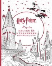 Harry Potter - Mágikus helyek és karakterek - színezőkönyv