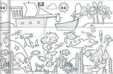 Színezőtekercs - Kalózok