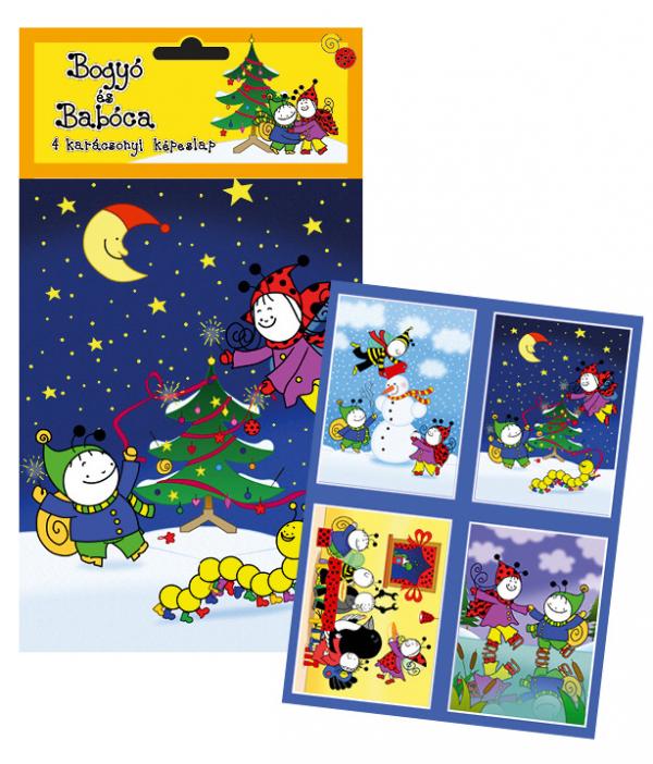 Bogyó és Babóca karácsonyi képeslap csomag