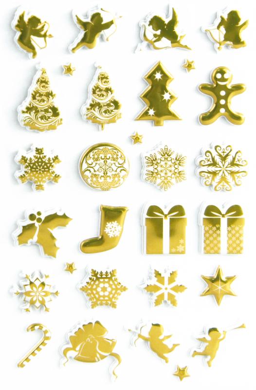 Cooky matricák - Karácsonyi motívumok - arany