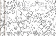 Színezőtekercs - Hercegnők és lovagok