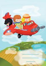 Pagony füzet - Panka és Csiribí repülőn - vonalas, 1. osztály (14-32)
