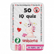 50 IQ kvíz: unikornisok - foglalkoztató kártyák