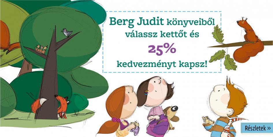 Berg Judit  minden könyve akcióban!